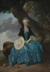 Johann Zoffany, Mrs Mary Oswald<br /> about 1763-4© National Portrait Gallery, London https://www.nationalgallery.org.uk