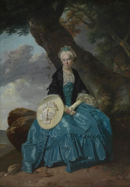 Johann Zoffany, Mrs Mary Oswald<br /> about 1763-4© National Portrait Gallery, London https://www.nationalgallery.org.uk